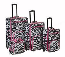 4 Piece Luggage Set Polyester - Pink Giraffe New