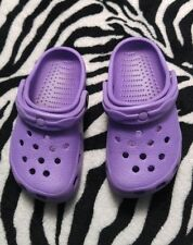 LAVENDER/PURPLE GIRLS WATERPROOF SLIP ONS , US M- 10/11, USED/CLEANED