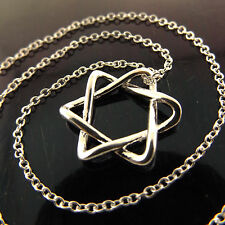 NECKLACE CHAIN REAL 925 STERLING SILVER S/F GIRLS STAR PENDANT DESIGN FS3A963