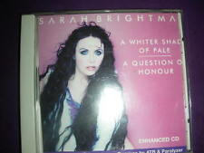"""CD """"A Whiter Shade of Pale/A Question of Honour"""" Sarah Brightman ANGEL RECORDS"""