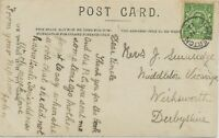 "GB VILLAGE POSTMARKS ""HARBERTON"" (Devonshire) Thimble 20mm 1912 clear on poor pc"