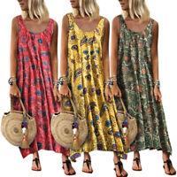 Women Summer Maxi Long Dress  Beach Holiday Boho Hippie Baggy Sundress Plus Size
