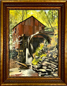 ORIG SIGNED OIL PAINTING LANDSCAPE BY ROCKPORT, MASS. ARTIST RUTH S. WOODWORTH
