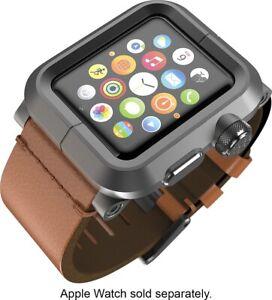 LUNATIK - EPIK Case And Band For Apple Watch 42mm - Black/Brown