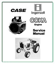 CASE INGERSOLL Garden Tractor CCKA Onan ENGINE SERVICE Repair MANUAL + 2 MANUALS