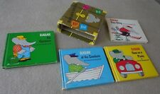 Vintage 1966 Babar's Trunk Slipcase Laurent de Brunhoff 4 Books ~ FREE SHIPPING