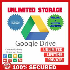Gsuite Google Drive Unlimited Google Photos, Cloud, YOUR USERNAME +Lifetime
