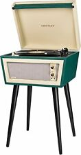 Crosley CR6231A-GR1 Sterling Portable Turntable with Aux-In, Green & Cream