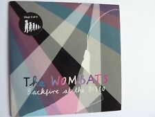 """THE WOMBATS BACKFIRE AT THE DISCO 7"""" SINGLE  PART 2 OF 2 EXCELLENT CONDITION"""