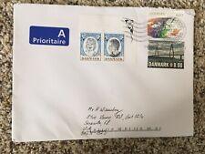 2012 Denmark Stamps Cover Envelope Christmas Dove Bridge A Prioritaire