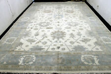 12X19 Exquisite Mint New Muted Hand Knotted Hq Wool Oushak Turkish Oriental Rug