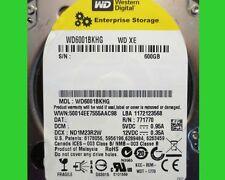 "Lot of 4 Western Digital XE 600 GB,Internal,10000 RPM,2.5"" (WD6001BKHG) HDD"