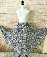 Conversation Pieces Floral Tiered Full Circle Gypsy Boho Ruffle Maxi Skirt Large