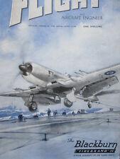 8/1946 PUB BLACKBURN AIRCRAFT FIREBRAND IV HMS CARRIER ROYAL NAVY DECK COVER AD