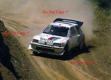 Juha Kankkunen Peugeot 205 Turbo 16 E2 Acropolis Rally 1986 Photograph 1