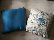 """Lot of 2 x Pure Silk Cushions with Inner Pads 16"""" x 16"""""""