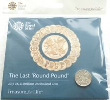 2016 Royal Mint Last Round Pound BU £1 One Pound Coin Pack Sealed