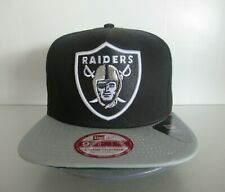 New Era Oakland Raiders 9Fifty 950 NFL Black Silver A Frame Strapback Hat Cap