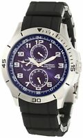 NEW Armitron 20/4782BLSV Mens Resin Wrapped Stainless-Steel Bracelet Blue Watch