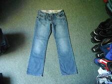 "Cherokee Slim Leg Roll Up Jeans Size 10 Leg 29"" Faded Dark Blue Ladies Jeans"
