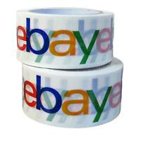2 Rolls eBay Branded Packaging Tape Box Packing Supplies x 75 yards Multi Color