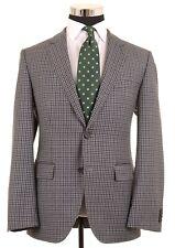Hugo Boss Gray Plaid Check Lanifico ITALIAN Wool Sport Coat Jacket Blazer 38 R