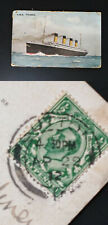 More details for rms titanic postally used 29th april 1912 salmon mitchell postcard white star