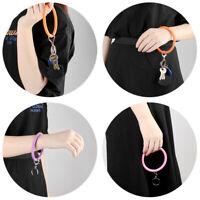 Fashion Soft Silicone Wristlet Key Chain Car KeyChain Silicone Wristlet Keyring