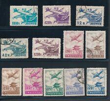 Korea (12) AIRMAILS 1952-7; USED: C6-8, C12-16, C9, C11, C18 & C22