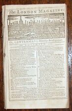 1756 LONDON MAGAZINE FRENCH & INDIAN WAR NEW YORK FORTS MAP GERMANY INOCULATION