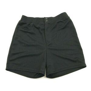 NEW VINTAGE Bike Athletic Shorts Size Large L Black Zipper FLy Casual Biking