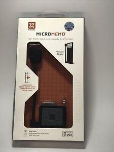 XtremeMac MicroMemo High Fidelity Digital Audio Recorder iPod Nano Podcast Ready