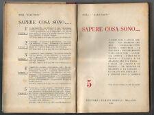 "Libro/book vintage-Boll-Electron ""SAPERE COSA SONO...."" edit.HOEPLI 1944"