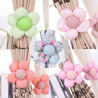 Sun Flower Baby Kid Girl Nursery Bedroom Curtain Tie Backs Holdback Holder LS