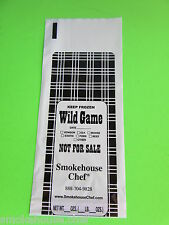 200 2-Lb ground meat Freezer Bags for beef, venison, pork or all wild game meats