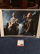 Awesome Bono Signed Autographed 11 By 14 Photo Psa Dna U2