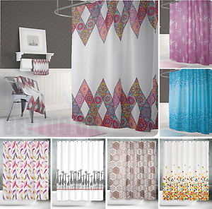 Fabric Extra Long Extra Wide or Narrow Width Bathroom Shower Curtains Many Sizes