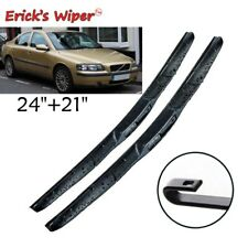 "24""21"" Front Hybrid Wiper Blades For Volvo S60 2000 - 2004 Windshield Windscreen"