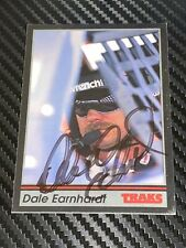 Dale Earnhardt autographed card 1991 TRAKS #190 GOODWRENCH NASCAR HALL OF FAMER