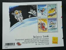 Belgium Youth Philately Transport 2005 Train Car Ship Airplane Space (ms) MNH