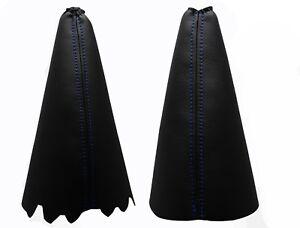 FORD KA RB (1996-2008) Funda Palanca de Cambio y Freno - Costuras Azul Oscuro