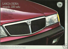 Lancia Dedra Integrale 2000 Turbo 8 Page Sales & Paint Brochure 1991 TWO ITEMS