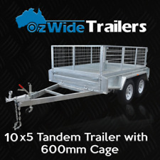 10 x 5 TANDEM BOX TRAILER BRAND NEW GALVANISED WITH CAGE  - FULLY WELDED