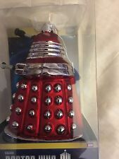 Doctor who   red supreme  dalek , kurt s.alder  hand crafted  christmas ornament
