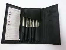 Coastal Scents Eye Shadow Brush Set of 5 New Soft Cosmetic Brushes with Bag Case