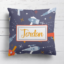Personalised Laser Guns Boys Kids Childrens Cushion Cover Pillow Case & Filling