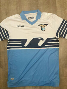 SS Lazio Home Italy Soccer Jersey Shirt by Macron - Size Large