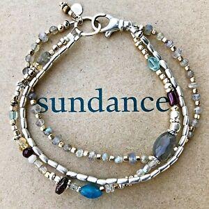 NEW $158 Sundance Labradorite Apatite Sterling Silver 14k Gold GF Bracelet NWT