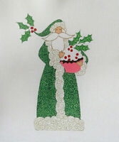 Handpainted Needlepoint Canvas Curtis Boehringer Cupcake Santa CB-130 18ct