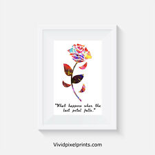 Beauty and the Beast inspired, print, poster, prints, posters, quote, wall art